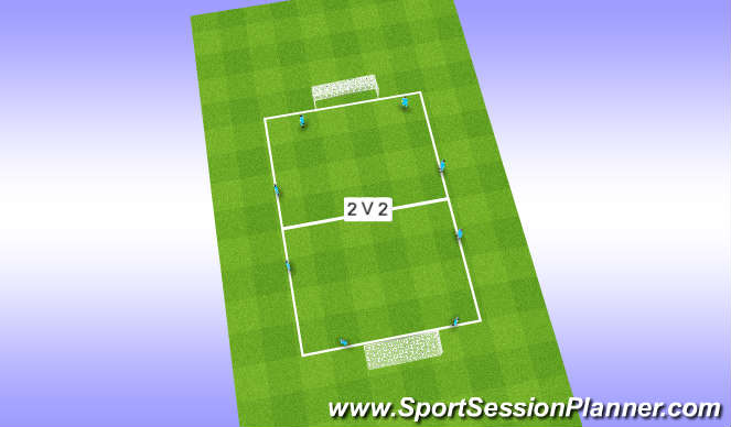 Football/Soccer Session Plan Drill (Colour): Anaerobic