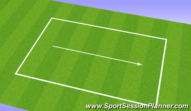 Football/Soccer Session Plan Drill (Colour): Straight line speed