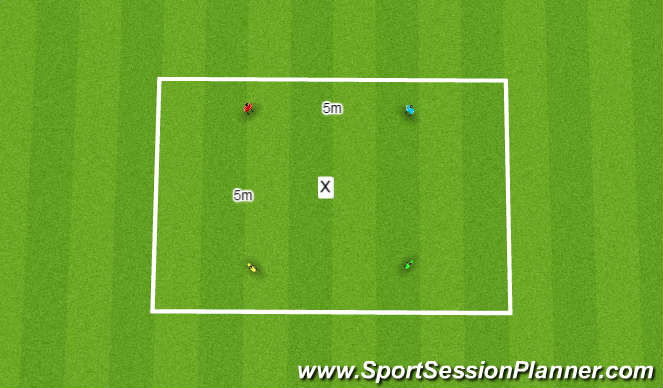 Football/Soccer Session Plan Drill (Colour): Agility
