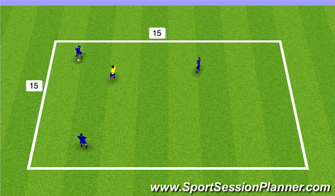 Football/Soccer Session Plan Drill (Colour): 3 v 1 Activity