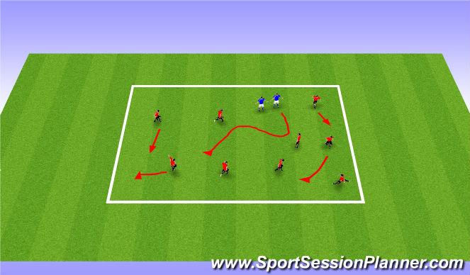Football/Soccer Session Plan Drill (Colour): Chain Gang/The Blob