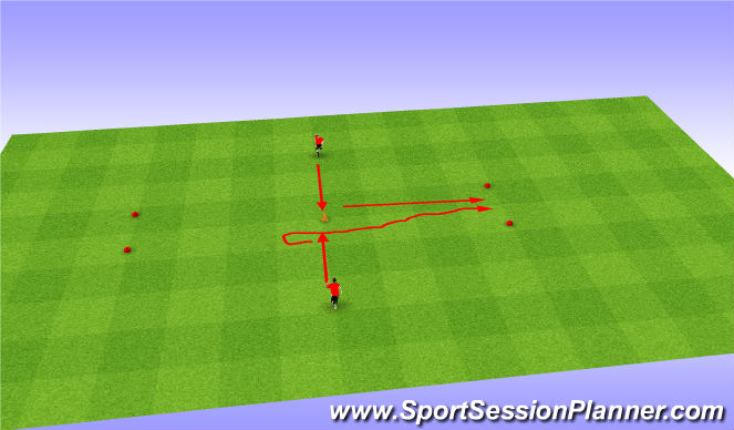 Football/Soccer Session Plan Drill (Colour): Copy Cat/Follow the Leader