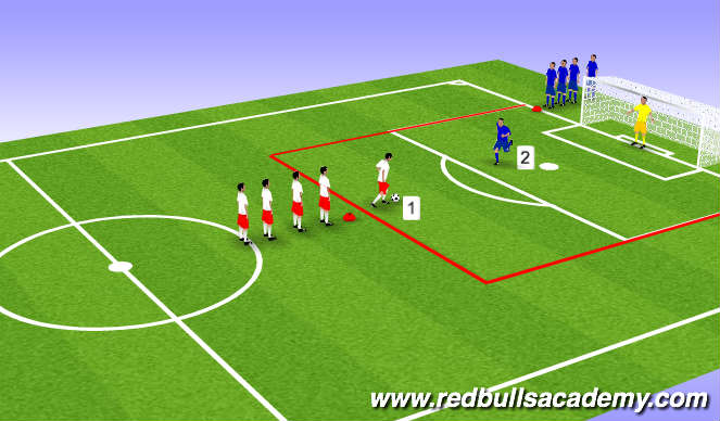 Football/Soccer Session Plan Drill (Colour): Main Theme (Part 2)
