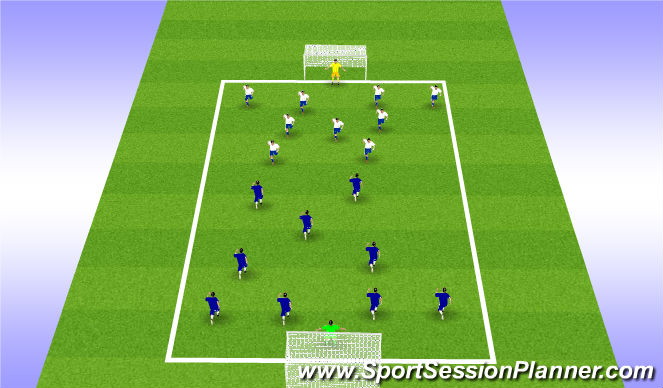 Football/Soccer Session Plan Drill (Colour): 10v10