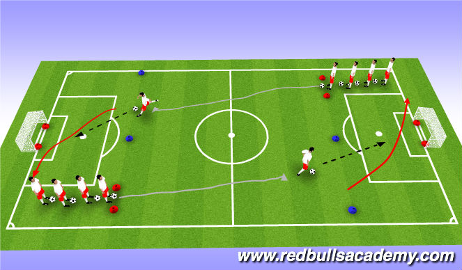 Football/Soccer Session Plan Drill (Colour): Main - Theme