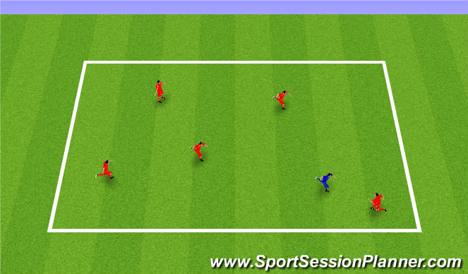 Football/Soccer Session Plan Drill (Colour): Warm up - Banana split