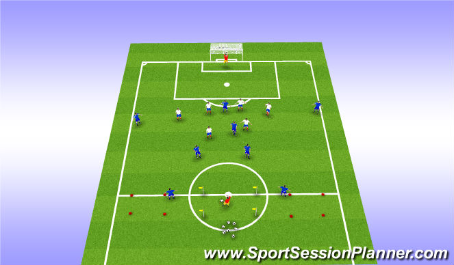 Football/Soccer Session Plan Drill (Colour): Organisation & Start Point