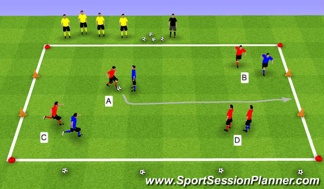 Football/Soccer Session Plan Drill (Colour): Knattraksleikur.