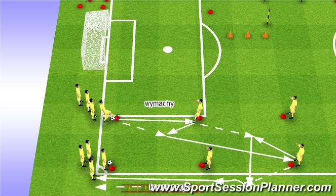 Football/Soccer Session Plan Drill (Colour): Rozgrzewka techniczno koordynacyjna
