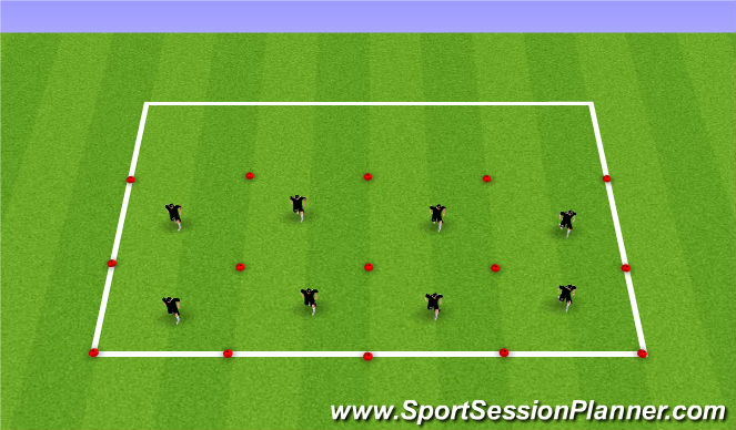 Football/Soccer Session Plan Drill (Colour): Ball-Mastery + Technical Skills Testing