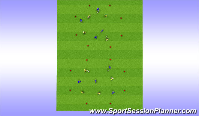Football/Soccer Session Plan Drill (Colour): Warm Up - Part One