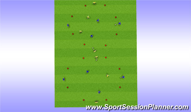Football/Soccer Session Plan Drill (Colour): Warm Up - Part Two