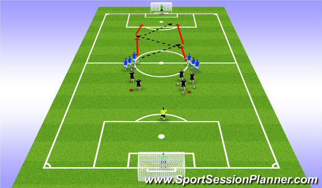Football/Soccer Session Plan Drill (Colour): Shooting U9 & U10