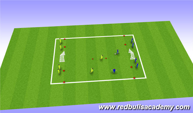 Football/Soccer Session Plan Drill (Colour): Conditioned Game - Numbers game