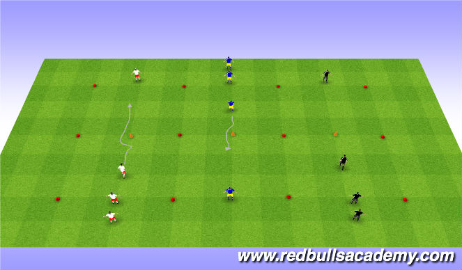 Football/Soccer Session Plan Drill (Colour): Developmental Repeitiotns