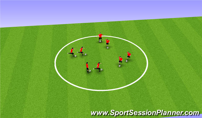Football/Soccer Session Plan Drill (Colour): Shadow Dribbling