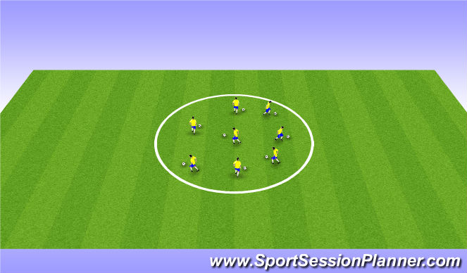 Football/Soccer Session Plan Drill (Colour): Watford U14 Dribbling
