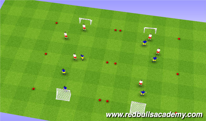 Football/Soccer Session Plan Drill (Colour): 3v3 Tournament