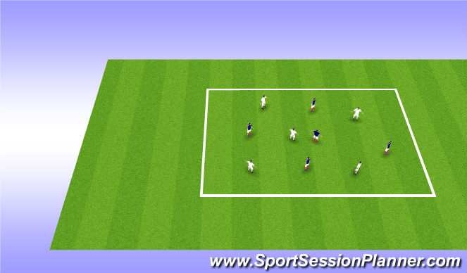 Football/Soccer Session Plan Drill (Colour): 5v5 Possession