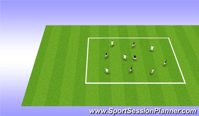 Football/Soccer Session Plan Drill (Colour): 5v5 Possession