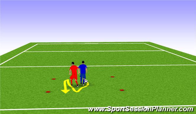 Football/Soccer Session Plan Drill (Colour): Phase 1: Development of basic skill