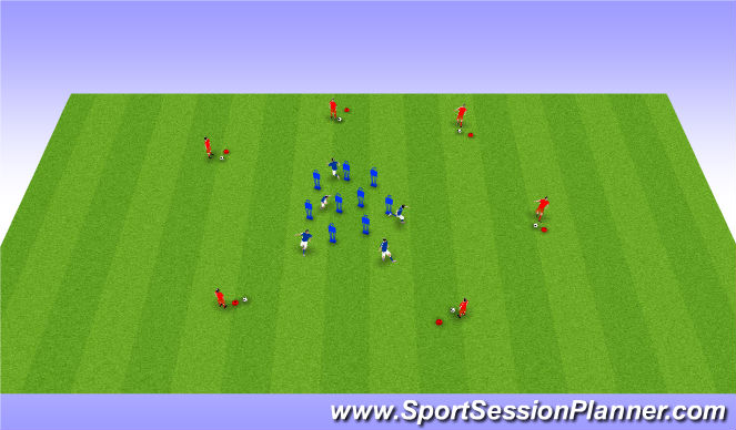 Football/Soccer Session Plan Drill (Colour): Warmup Receiving