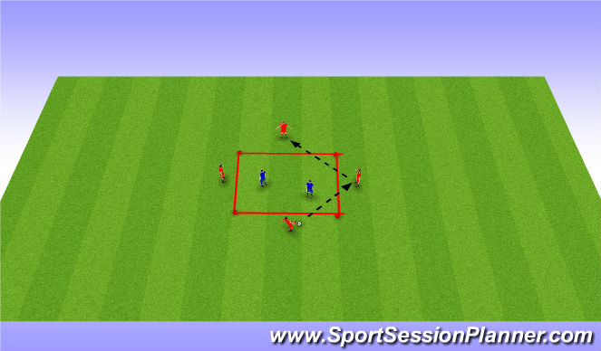 Football/Soccer Session Plan Drill (Colour): Warm up drill #1