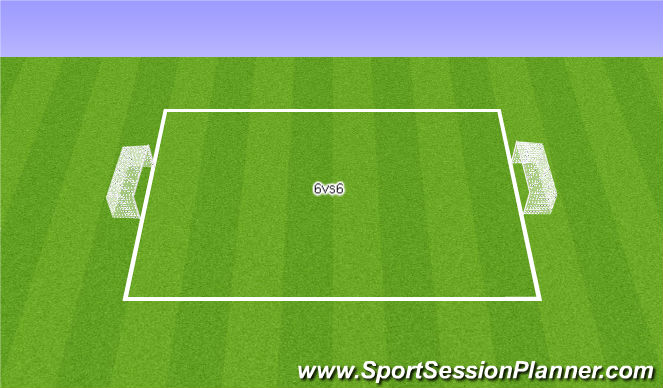 Football/Soccer Session Plan Drill (Colour): 6VS6 Game