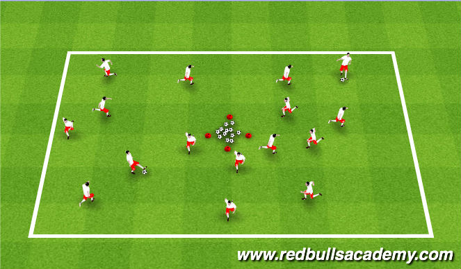 Football/Soccer Session Plan Drill (Colour): Activator