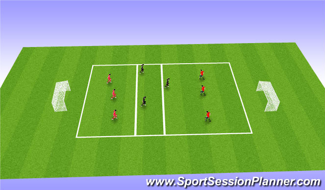 Football/Soccer Session Plan Drill (Colour): Transfer & Press