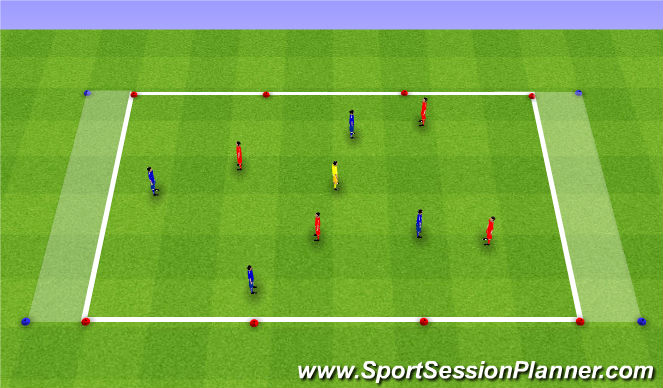 Football/Soccer Session Plan Drill (Colour): Dribbling - SSG