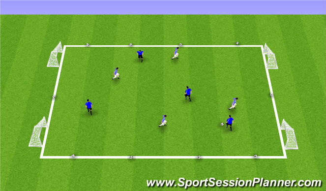 Football/Soccer Session Plan Drill (Colour): Possession Side