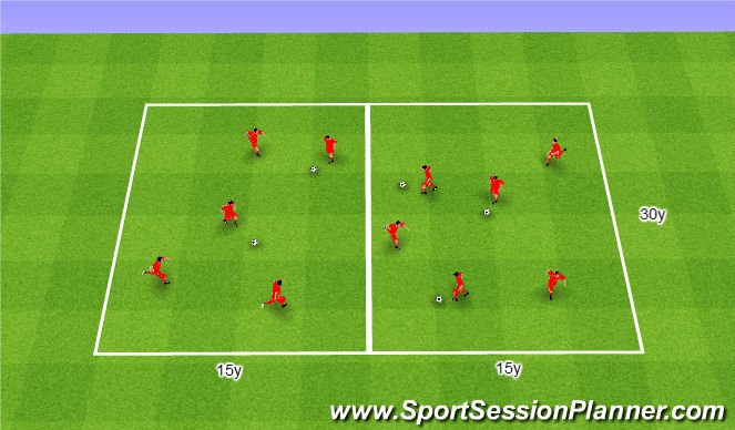 Football/Soccer Session Plan Drill (Colour): Ogólnorozwój.