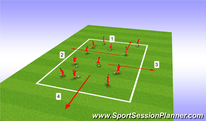 Football/Soccer Session Plan Drill (Colour): U8 Warm Up