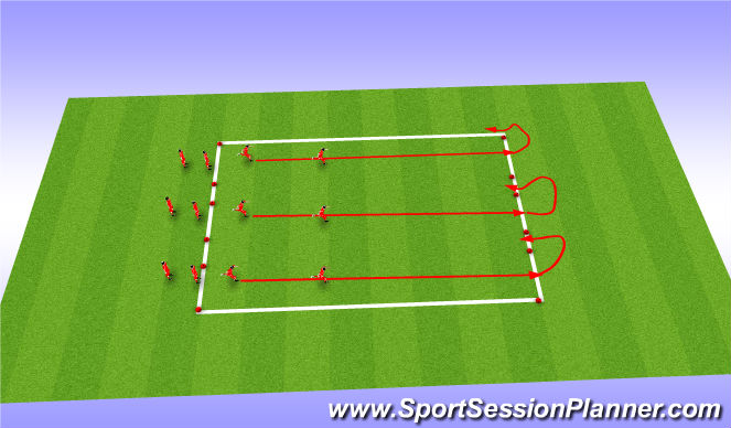Football/Soccer Session Plan Drill (Colour): Dynamic - no ball
