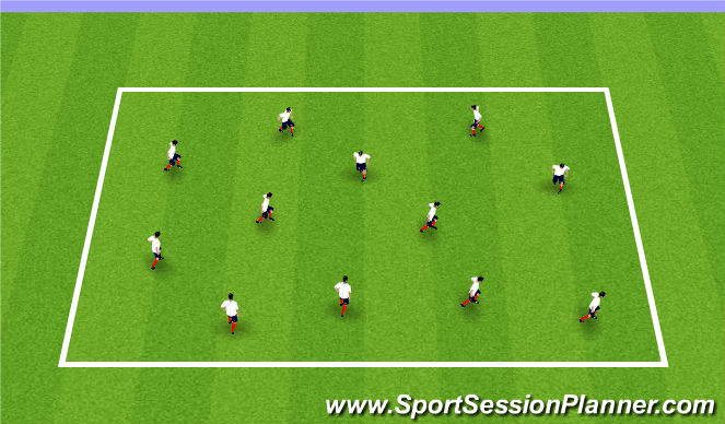 Football/Soccer Session Plan Drill (Colour): Warm-Up Eval 1