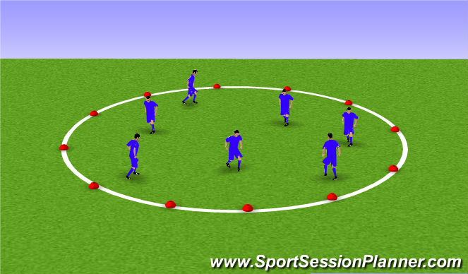 Football/Soccer Session Plan Drill (Colour): Bumper cars warm up