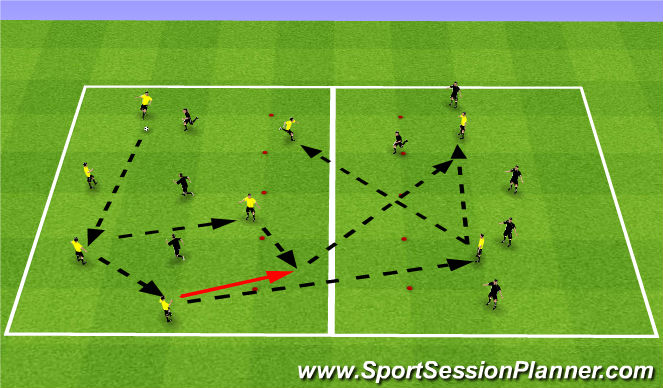 Football/Soccer Session Plan Drill (Colour): Playing Out of Back