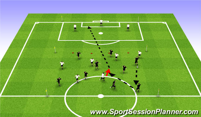 Football/Soccer Session Plan Drill (Colour): Possession vs Pressing