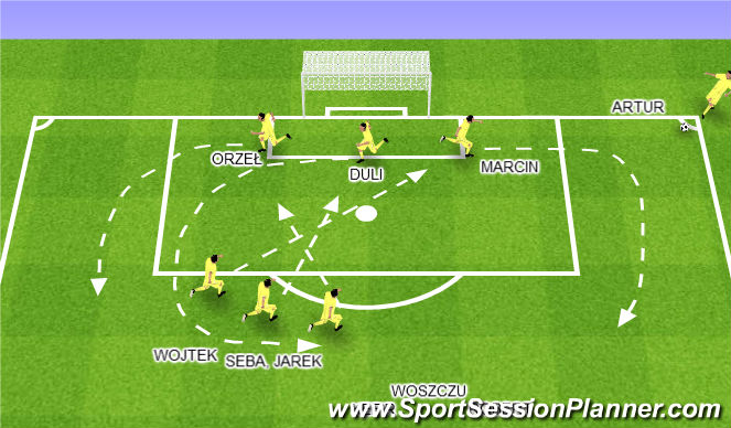 Football/Soccer Session Plan Drill (Colour): SFG - OFENSYWNY