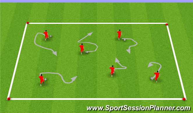 Football/Soccer Session Plan Drill (Colour): Warm up- Beans on Toast (10 minutes)