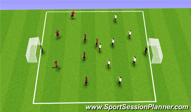 Football/Soccer Session Plan Drill (Colour): Final Game-open Play
