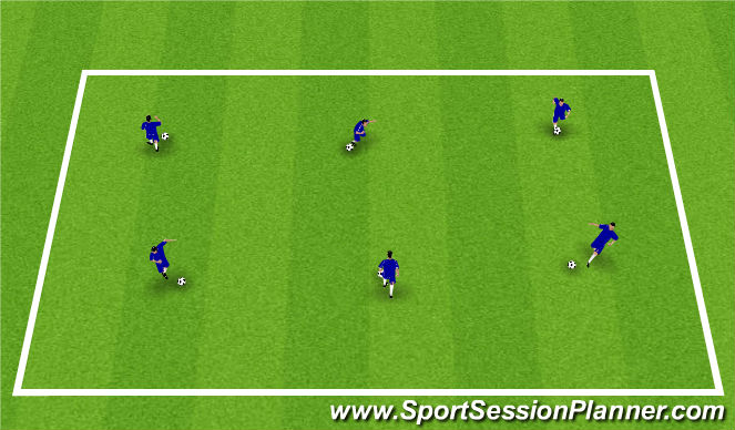 Football/Soccer Session Plan Drill (Colour): Numbers Dribbling