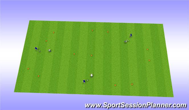 Football/Soccer Session Plan Drill (Colour): Gates 1v1
