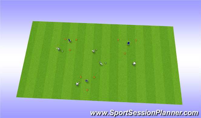 Football/Soccer Session Plan Drill (Colour): Triangle Defender