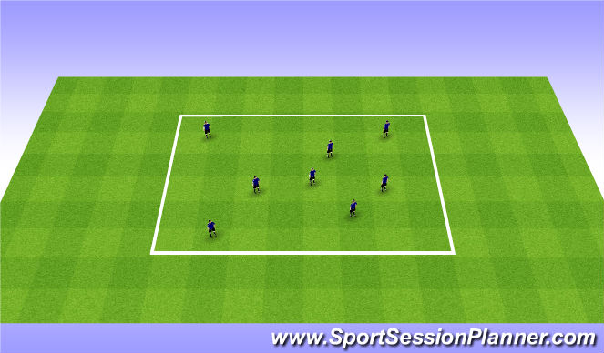 Football/Soccer Session Plan Drill (Colour): skill testing