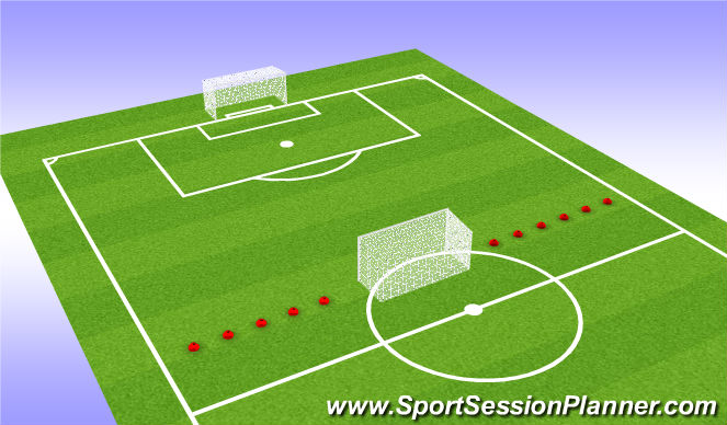 Football/Soccer Session Plan Drill (Colour): Game 7v7