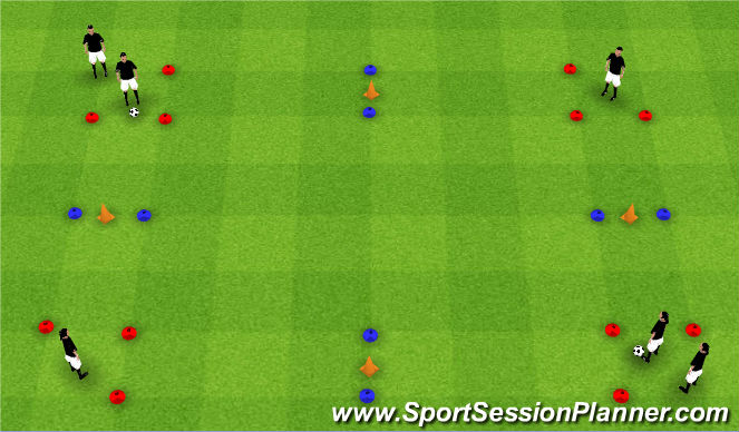 Football/Soccer Session Plan Drill (Colour): Hit the Cone Accuracy
