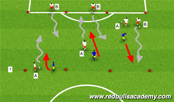 Football/Soccer Session Plan Drill (Colour): Warm Up - 2