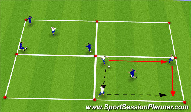 Football/Soccer Session Plan Drill (Colour): 3v1 Rondo